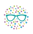 modern glasses isolated icon vector image vector image