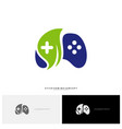 nature joystick game logo concept template design vector image vector image