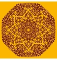 Ornamental henna mandala card Geometric circle vector image vector image