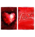 Page with a heart and the word love For posters vector image
