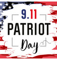 patriot day card usa brush paint vector image