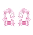 Pink ornament on white background vector image
