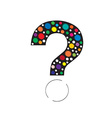 question mark color vector image