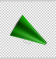 realistic megaphone green isolated object vector image