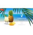 realistic tropical beach party template vector image vector image