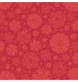 Red background with snowflakes vector image
