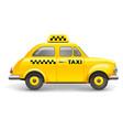 retro taxi vector image