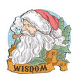santa claus head smoking vector image vector image
