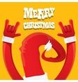 Santa Claus rock n roll gesture icon vector image