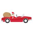 Santa Ride Car vector image