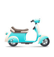 scooter-turquoise vector image vector image