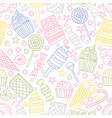 seamless pattern with candies in doodle style vector image