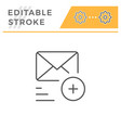 sending mail line icon vector image vector image