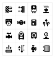 Set icons of heating vector image vector image