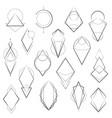 set minimalistic geometric elements vector image vector image