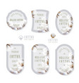 set of tags and logo for cotton manufacture vector image vector image