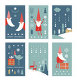 set vertical christmas or new yers banners vector image vector image