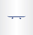 skateboard icon logo symbol design vector image