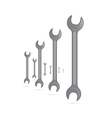 Spanners Hand Wrench Tools Isolated on White vector image vector image