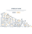 stress at work - modern line design style vector image vector image