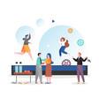 trampoline for kids concept for web banner vector image