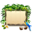 tropical canvas frame vector image vector image
