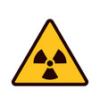 warning sign yellow triangle with black attention vector image