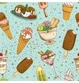 Icecream seamless background pattern vector image