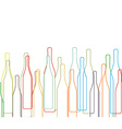 Background with bottles set vector image
