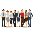 office people business people men and women with vector image