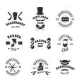 Barber shops symbols set vector image