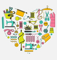 I love sewing and needlework set Tailoring vector image
