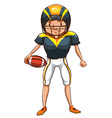 A simple sketch of an American football player vector image vector image