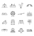 Amusement park icons set outline style vector image vector image