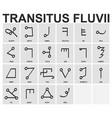 ancient occult alphabet transitus fluvii vector image vector image
