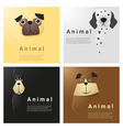 Animal portrait collection with dogs 4 vector image