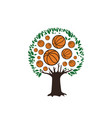 basketball-tree-logo vector image