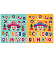 beautiful templates for mexican holiday 5 may cinc vector image