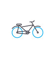 bike thin line stroke icon bike outline vector image vector image