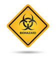 biohazard yellow sign vector image