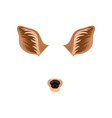 brown ears and black nose of little deer animal vector image