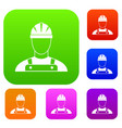 builder set collection vector image vector image