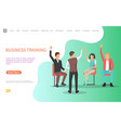 business training man asking audience questions vector image vector image