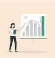 business woman or manager doing a presentation vector image