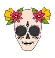 Catrina skull flower