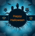 Celebration Card for Halloween Party vector image vector image