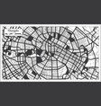 chengdu china city map in black and white color vector image vector image