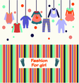 children clothes collection for girl vector image vector image