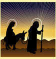 christmas nativity mary and joseph vector image vector image