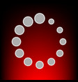 circular loading vector image